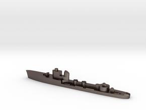 Italian Centauro torpedo boat 1:2400 WW2 in Polished Bronzed-Silver Steel