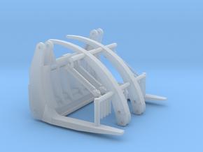1/64th Log forks for Front End Wheel Loader in Smooth Fine Detail Plastic