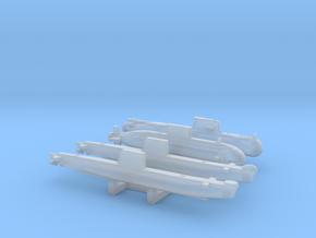 Commonwealth Diesel submarines FH - 2400 in Smooth Fine Detail Plastic