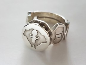 Gemini Ring in Polished Silver: 10 / 61.5