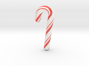 Candy cane - Medium in Glossy Full Color Sandstone