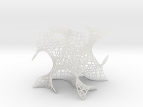 Gyroid Mesh, single cell in Smooth Fine Detail Plastic
