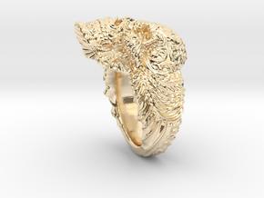 """""""Su Cráneo de las Flores"""" Skull ring in 14K Yellow Gold"""