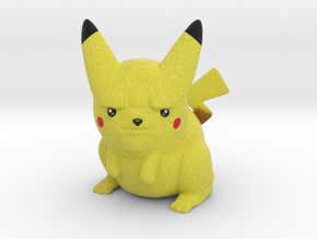 Pissed off Pikachu in Natural Full Color Sandstone