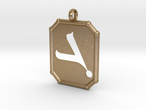 Gamal Pendent in Polished Gold Steel