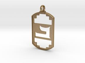 Beth Symbol Pendent in Polished Gold Steel
