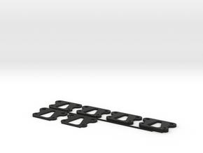 TLR 22 5.0 LRC Kick Shim Kit 1 Degree Increments in Black Natural Versatile Plastic