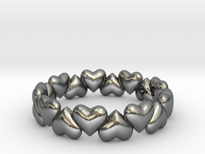 Heart Hugging Love Wedding Band in Polished Silver: 7 / 54