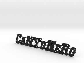 Canyonero 4x4 Pickup Logo in Black Natural Versatile Plastic