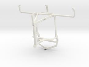 Controller mount for PS4 & Nokia 800 Tough - Top in White Natural Versatile Plastic
