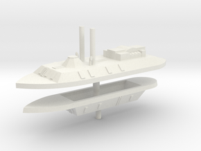 1/700 CSS Arkansas & City class Ironclads in White Natural Versatile Plastic