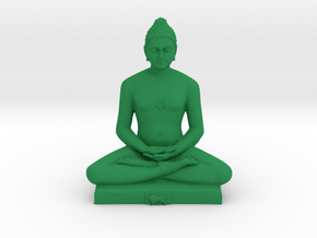 Bhagwan Mahaveer in Green Processed Versatile Plastic: Medium