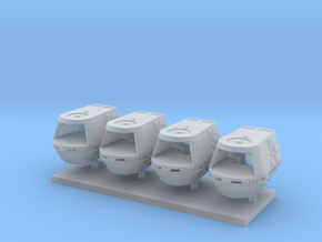 1/350 TMP Travel Pod Four Pack in Smooth Fine Detail Plastic