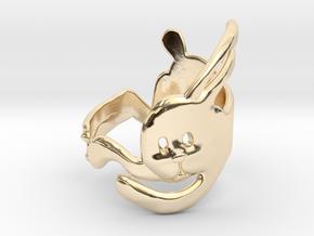 Run Rabbit Ring in 14K Yellow Gold