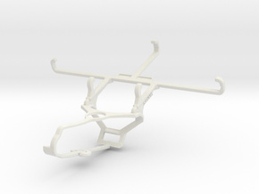 Controller mount for Steam & Realme Q - Front in White Natural Versatile Plastic