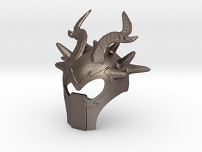 Sea Dragon's Mask in Polished Bronzed Silver Steel
