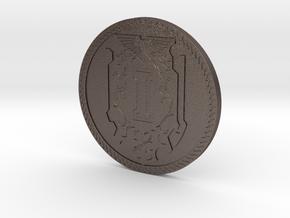 Custodian Objective Marker 1 in Polished Bronzed-Silver Steel