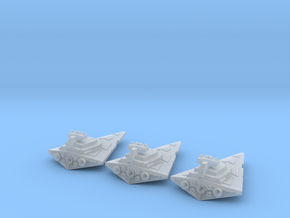 Tiny Space Destroyers (17mm) in Smooth Fine Detail Plastic