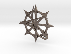 Anarchy Star pendant in Polished Bronzed Silver Steel