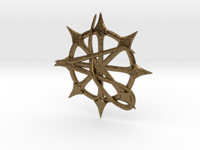 Anarchy Star pendant in Natural Bronze