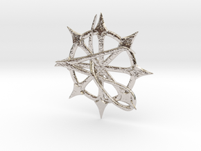 Anarchy Star pendant in Platinum