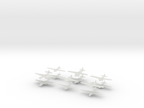 WW2 Gliders-36mm- (Qty. 12) in Smooth Fine Detail Plastic