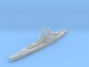 Gascogne battleship 1/2400 in Smooth Fine Detail Plastic