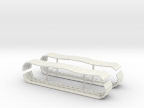 1/64th Hydraulic Excavator tracks for Cat 320 in White Natural Versatile Plastic