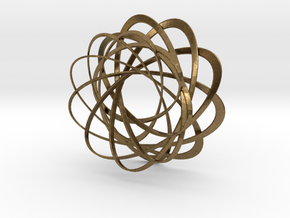 Mobius strips, intertwined in Natural Bronze