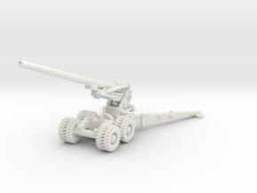 M1 155mm Long Tom 1/100 in White Natural Versatile Plastic