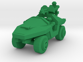 Infantry Support Vehicle in Green Processed Versatile Plastic: Small