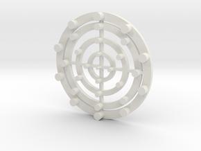 Target Coaster in White Natural Versatile Plastic