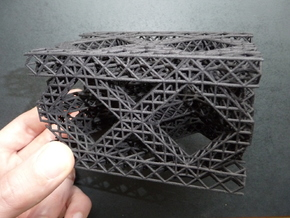 Square Fractal Truss in Black Strong & Flexible