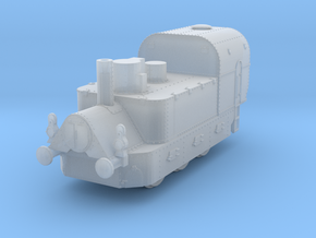 1/160th (N scale) Armoured Steam Locomotive in Smooth Fine Detail Plastic