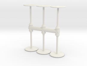 Bar Table (x6) 1/72 in White Natural Versatile Plastic