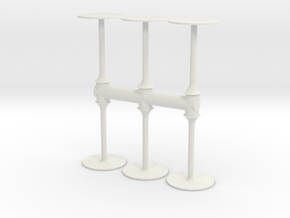 Bar Table (x6) 1/35 in White Natural Versatile Plastic