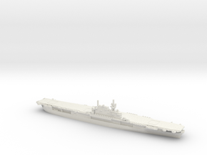 US Yorktown-class Aircraft Carrier in White Natural Versatile Plastic: 1:1800