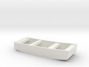 1/72 Scale 10 ft Punt General Purpose Work Boat US in White Natural Versatile Plastic