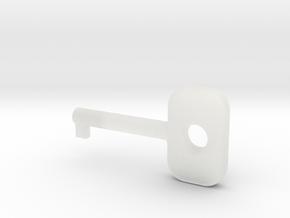 Cuff Key in Smooth Fine Detail Plastic