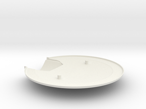 1/1000 USS Ares NCC-1650 Saucer Bottom in White Natural Versatile Plastic