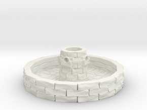 Water Fountain 1/100 in White Natural Versatile Plastic