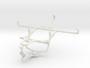 Controller mount for PS4 & Oppo A9 (2020) - Front in White Natural Versatile Plastic