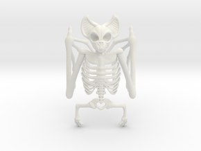 Bat Skeleton Napkin Ring in White Natural Versatile Plastic