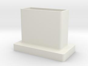 USB Port Cover in White Natural Versatile Plastic