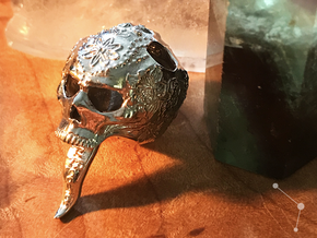 Ambrosia Skull - Pendant - Vessels in Rhodium Plated Brass