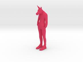 Unicorn Man in Pink Processed Versatile Plastic