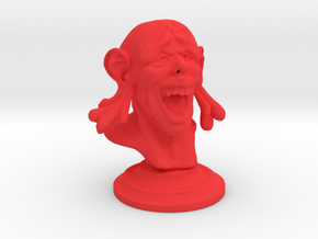 Happy Buddha (3 inches tall) in Red Processed Versatile Plastic