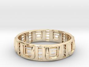 JU RING in 14k Gold Plated Brass: 28mm