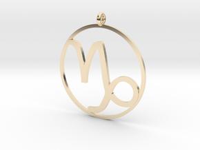 Zodiac pendant Capricorn 22 Dec - 20 Jan in 14k Gold Plated Brass
