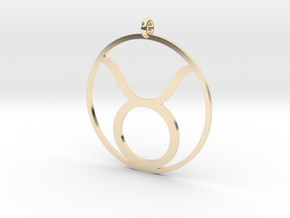 Zodiac pendant Taurus 20 Apr - 20 May in 14k Gold Plated Brass